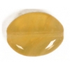 Glass Pressed Beads 12x9mm Flat Oval Mustard